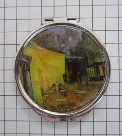 SPI 204 Spiegeldoosje Café Terras, Vincent van Gogh.