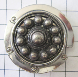 Tassenhanger Zeeuwse knop ZKG421 echt verzilverd