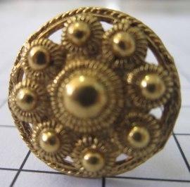 ZKG415-G Zeeuwse knoppen, paar manchetknopen, verguld.