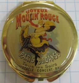 Chique echt verguld spiegeldoosje affiche Joyeux Moulin Rouge