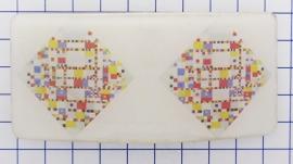 HAR 323 haarspeld rechthoek bnoogie woogie Mondriaan