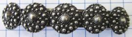 ZKG442 Haarspeld 8 cm met zeeuwse knopen met veel bolletjes, zwaar verzilverd