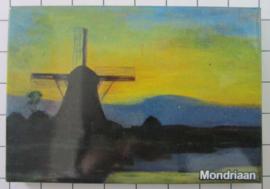 MAC:20.265 koelkastmagneet molen Piet Mondriaan