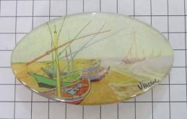Haarspeld 8 cm ovaal HAO 414 bootjes Vincent van Gogh