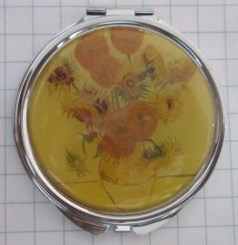SPI 208 Spiegeldoosje zonnebloemen Vincent van Gogh