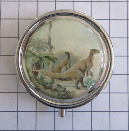 PIL 352 pillendoosje met spiegel dinosaurus