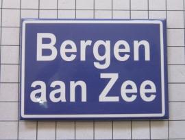 koelkastmagneet plaatsnaambord Bergen aan Zee N_NH6.501