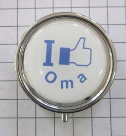 pil 048 pillendoosje met spiegel I like Oma