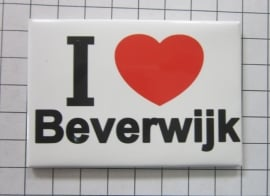 koelkastmagneet I ♥ Beverwijk N_NH7.501