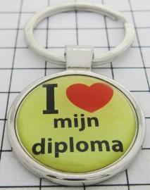 SLE 237 Sleutelhanger I love mijn diploma