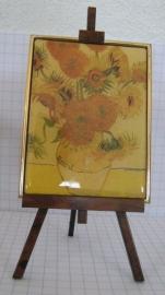 SCH 032 schildersezeltje 22 cm hoog, Vincent van Gogh zonnebloemen oud
