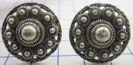 Grotere uitvoering Zeeuwse manchetknopen, 23 mm doorsnede, prijs per paar. ZKG416