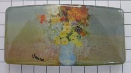 Haarspeld rechthoek HAR407 bloemetjes Vincent van Gogh