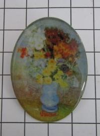 BRO 803 Broche bloemenvaas van Gogh