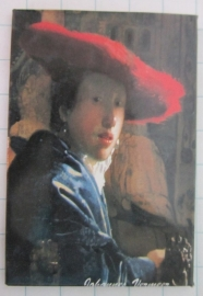 koelkastmagneet meisje rode hoed Johannes Vermeer MAC:20.304