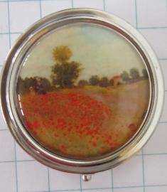 PIL 137 pillendoosje met spiegel klaprozenveld Claude Monet