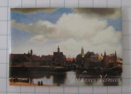 MAC:20.302 koelkastmagneet Johannes Vermeer gezicht op Delft