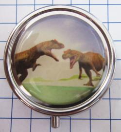 PIL 354 pillendoosje met spiegel dinosaurussen
