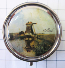 PIL222 pillendoosje met spiegel molen Gabriel
