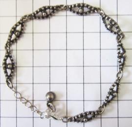 Exclusieve armband met Zeeuwse knop ruitjes zwaar verzilverd ZKA508