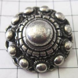 Sjaalclip / shawlclip Zeeuwse knop zwaar verzilverd ZKG411
