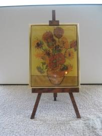 SCH 001 schildersezeltje 22 cm hoog, Vincent van Gogh zonnebloemen