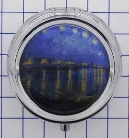 PIL412 pillendoosje sterrrennacht water Vincent van Gogh
