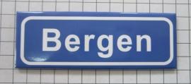 koelkastmagneet plaatsnaambord Bergen P_NH6.0001