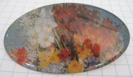HAO 205 Haarspeld ovaal bloemetjes Gogh