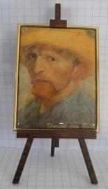SCH 002 schildersezeltje 22 cm hoog, Vincent van Gogh zelfportret hoed