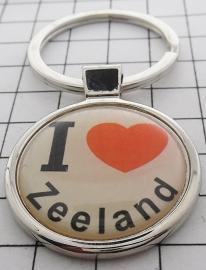 SLE_ZE1.001  Sleutelhanger I love Zeeland