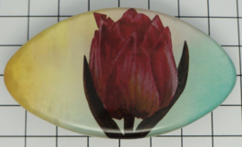 HAO 324 roze tulp haarspeld 8 cm met aquarel achtergrond