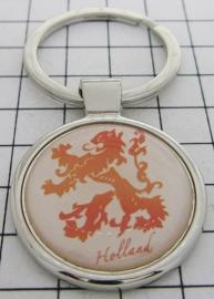 SLE501 Sleutelhanger wapen Holland oranje leeuw