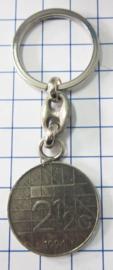 MSLE011  sleutelhanger rijksdaalder zwaar verzilverd, jaartal 1994
