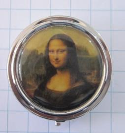 pil 117 pillendoosje met spiegel Mona Lisa