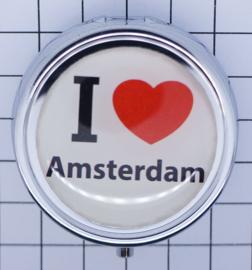 PIL001 pillendoosje i love Amsterdam