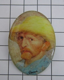 BRO 805 Broche zelfportret Vincent van gogh