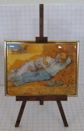 SCH 007 schildersezeltje 22 cm hoog, Vincent van Gogh hooiberg