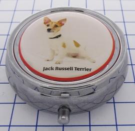 PIL 380 pillendoosje met spiegel jack russel terrier