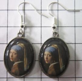 OOR 307 oorbellen meisje parel Johannes Vermeer