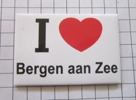 koelkastmagneet I ♥ Bergen aan Zee N_NH6.502