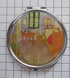 SPI 207 Spiegeldoosje Slaapkamer,  Vincent van Gogh
