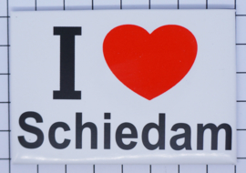 koelkastmagneet I ♥ Schiedam N_ZH8.003
