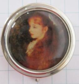 PIL 133 pillendoosje met spiegel meisje Irene Auguste Renoir