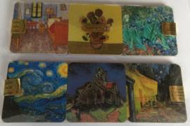 Onderzetters 6 stuks, Vincent van Gogh
