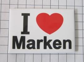 koelkastmagneet I ♥ Marken N_NH1.007