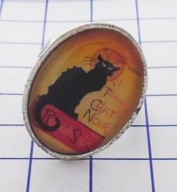 RIN 107 ring affiche zwarte kat Steinlen
