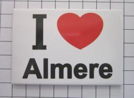 koelkastmagneet I ♥ Almere MAC:28.601