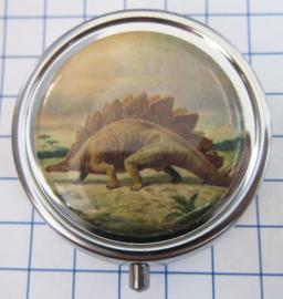 PIL 353 pillendoosje met spiegel stegosaurus
