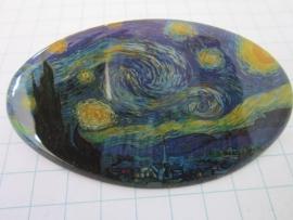 HAO 2034 Haarspeld ovaal sterennacht Vincent van Gogh
